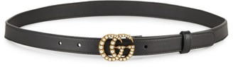 Gucci Pearly GG Leather Belt