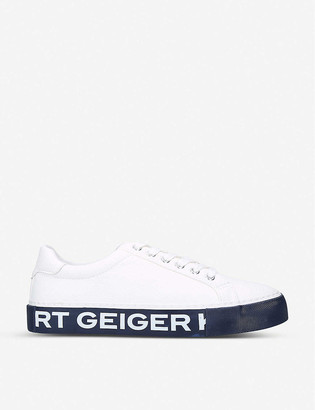 Kg Kurt Geiger Kaiden faux-leather trainers