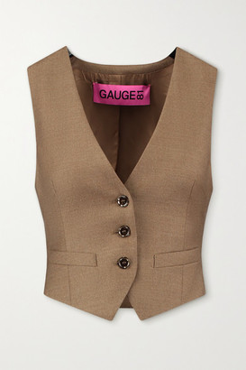 GAUGE81 Toluca Wool And Cashmere-blend Vest - Sand