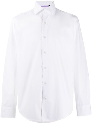 HUGO BOSS Pointed Collar Cotton Shirt