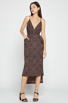 BCBGeneration Batik Faux-Wrap Midi Dress