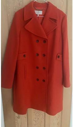 Hobbs Orange Wool Coat for Women