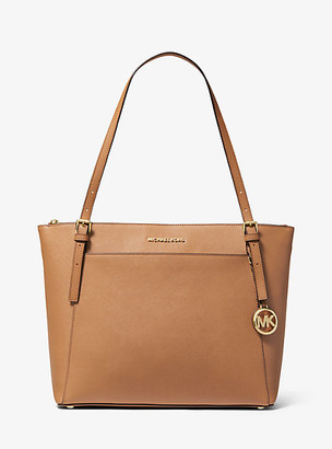 Michael Kors Voyager Large Saffiano Leather Top-Zip Tote Bag