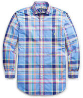 Ralph Lauren Big & Tall Plaid Cotton Poplin Shirt