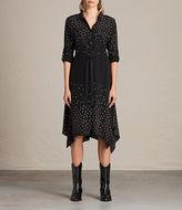 AllSaints Milena Estrela Silk Dress