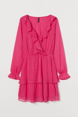 H&M Plumeti Chiffon Dress - Pink