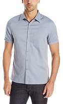 Perry Ellis Men's Slim Fit Textured Iridescent Shirt