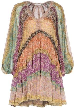 Zimmermann Carnaby floral-print mini dress