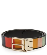 Paul Smith Grained-leather reversible belt