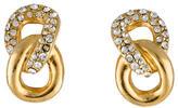 Christian Dior Crystal Infinity Clip-On Earrings