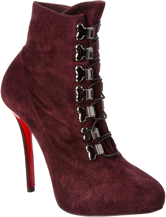 Christian Louboutin Troopista 120 Suede Bootie