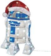 "Star Wars Kurt Adler UL 50-Light 28"" R2D2 Tinsel Decoration with Package"