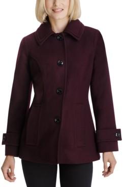 London Fog Petite Single-Breasted Coat