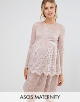 Asos Lace Skater Dress with Tiers