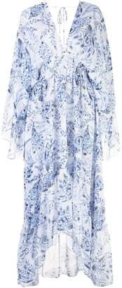 MISA Floral-Print Maxi Dress
