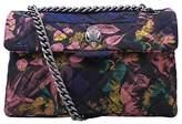 Kurt Geiger Kensington Floral Cross Body Bag, Dark Blue Combo