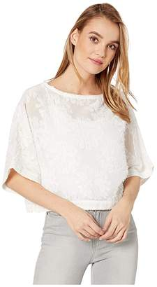 Bishop + Young Cleo Crop Top (White) Women's Clothing