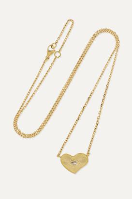 Brooke Gregson Heart 18-karat Gold Diamond Necklace