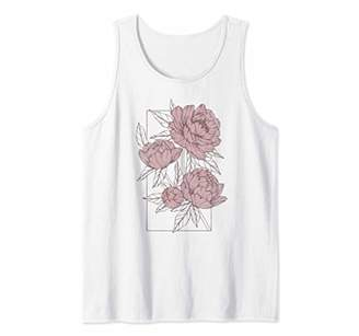 Flower Sketches Box Tank Top