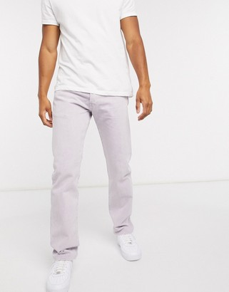 Levi's 501 '93 straight fit jeans in lilac garment overdyed