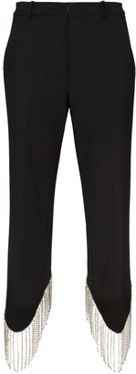 Area High-Waist Embellished Trousers
