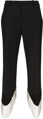 Area High-Waist Embellished Trousers