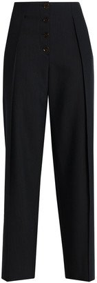 Pringle Wool And Silk-blend Crepe Wide-leg Pants
