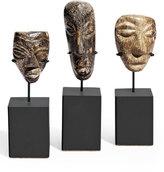 Brenda Houston Carved Mastodon Statues on Steel Base