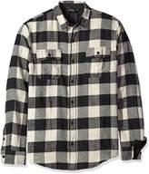 Burnside Men's Vector Plaid Flannel Long Sleeve Shirt
