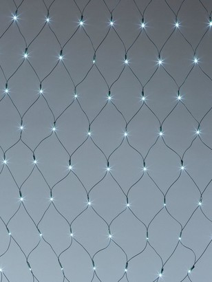 160 Net Curtain LED Indoor/Outdoor White Christmas Lights