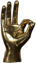 "Noir 9"" OK Sign Figurine - Gold"