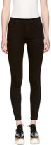 Stella McCartney Black High Waist Cropped Skinny Jeans