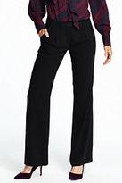 Lands' End Women's Crepe Trouser Pants-Jet Black