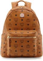 MCM Stark Small Visetos Backpack, Cognac