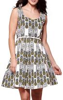 Yumi Pineapple Stripe Print Dress, Ivory