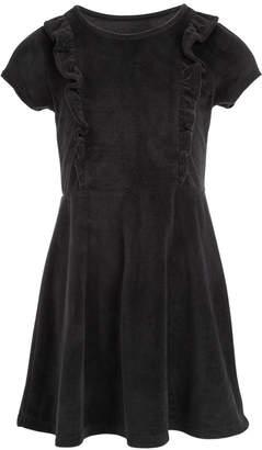 Epic Threads Toddler Girls Ruffle-Front Velvet Dress