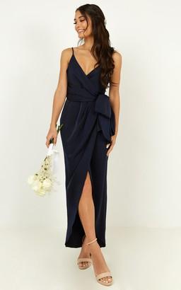 Showpo How will I know dress in navy - 4 (XXS) Bridesmaid