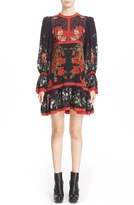 Alexander McQueen Women's Floral Print Silk Dress