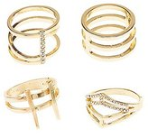 Charlotte Russe Plus Size Caged Stackable Rings - 4 Pack