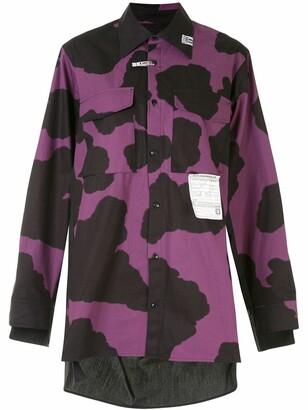Maison Mihara Yasuhiro Holstein cut-out detail shirt
