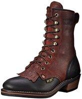 """AdTec Women's 8"""" Packer Black/Dark Cherry Work Boot"""