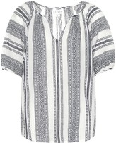 Velvet Halsey patterned cotton blouse