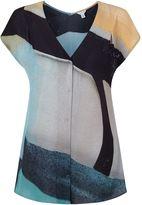 Jigsaw Deconstructed Typo Silk Blouse