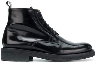 Ami Paris Laced Boots With Crepe Sole