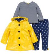 Little Me Three-Piece Jacket Top and Pants Set