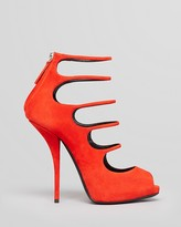 Giuseppe Zanotti Peep Toe Platform Evening Pumps - Nika High Heel