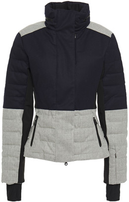 Erin Snow Quilted Color-block Merino Wool-blend Twill And Stretch-jersey Ski Jacket