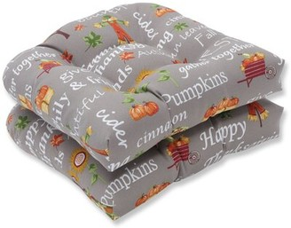 The Holiday Aisle Autumn Harvest Haystack Indoor/Outdoor Rocking Chair Cushion The Holiday Aisle