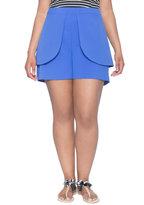 ELOQUII Plus Size Peplum Shorts