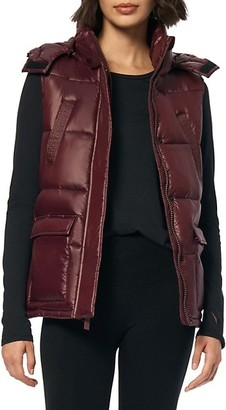 Andrew Marc Quilted Hooded Vest
